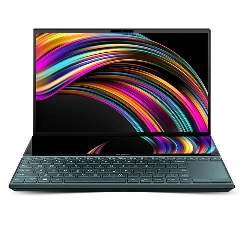 灵耀X2 Duo 翡翠玉 十代i5 14英寸 双屏 触控创意设计 轻薄笔记本电脑