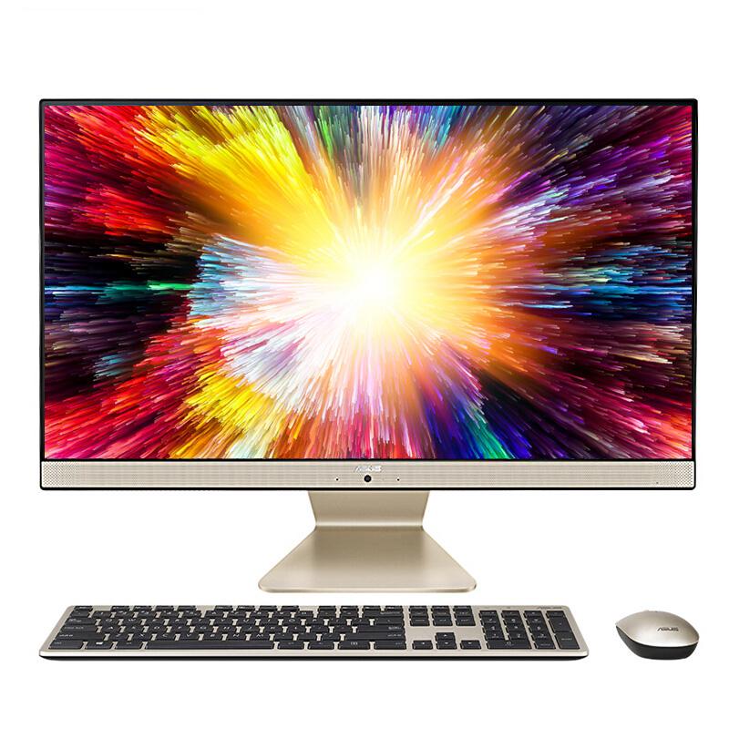华硕猎鹰V4 27英寸 双盘 商用办公一体机电脑 黑色