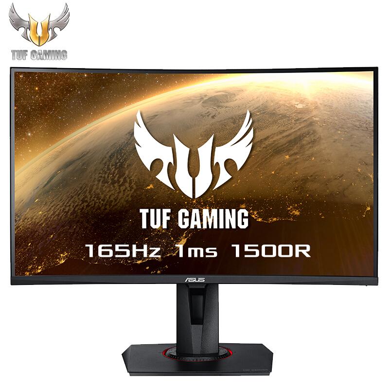 【新品】TUF Gaming VG27VQ 27英寸曲面1500R 144Hz顯示器 最高165Hz 1ms ELMB-SYNC 電腦顯示器官方正品 電競顯示器