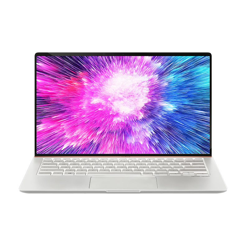【开学选华硕  4+4无忧保】灵耀Deluxe14 14.0英寸 92%全面屏 轻薄笔记本电脑(Windows 10 Home/i5-8265U/8GB/512G SSD/GeForce? MX150)-冰钻银