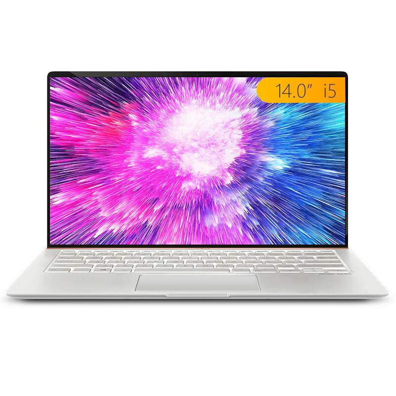 灵耀Deluxe14 冰钻银 八代i5 14.0英寸全面屏轻薄笔记本电脑