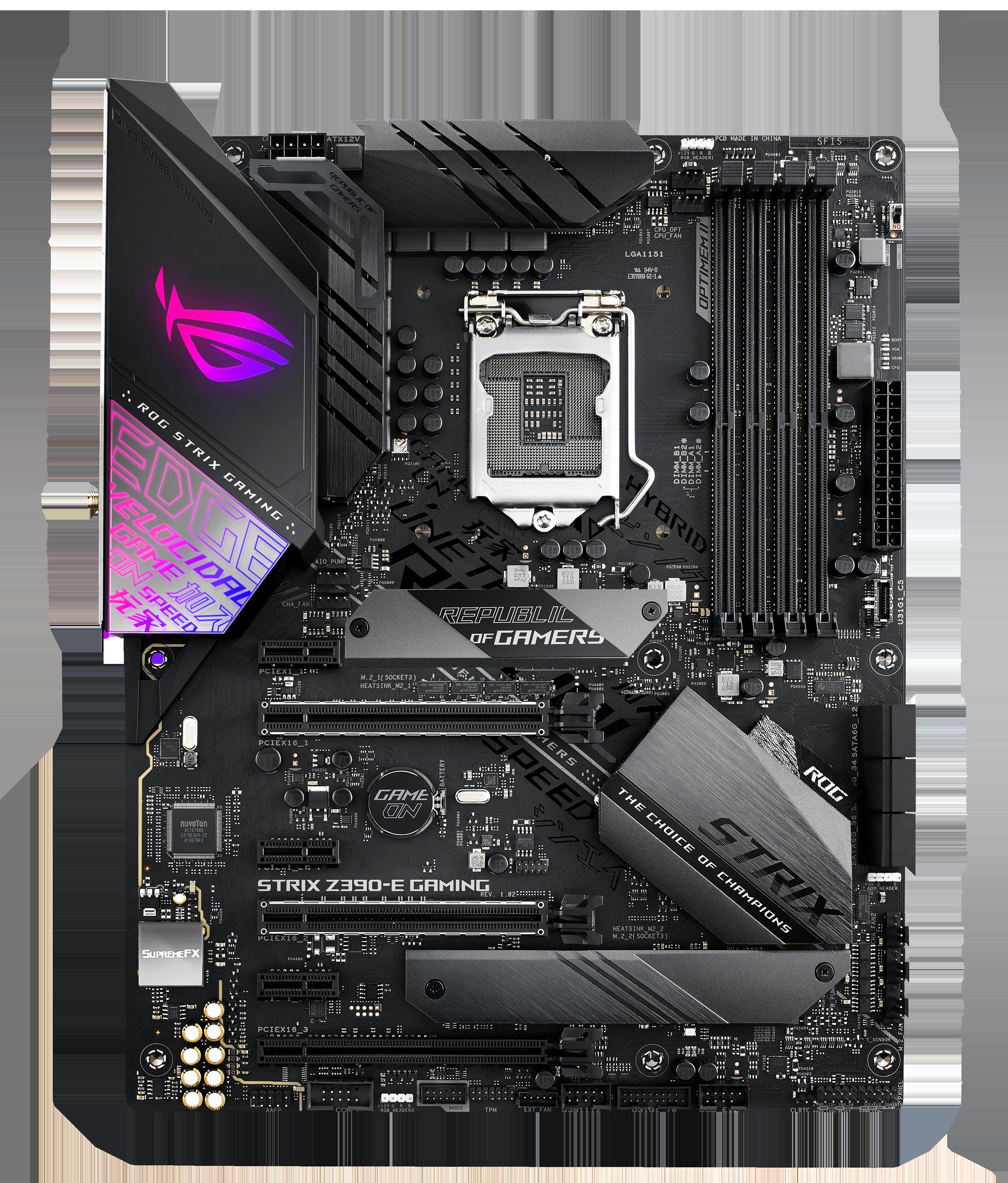 玩家国家(ROG)ROG STRIX Z390-E GAMING 主板 撑持intel9代CPU 9600K/9700K/9900K(Intel Z390/LGA 1151)